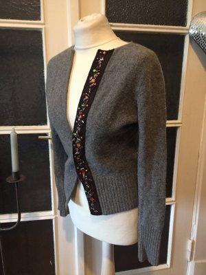 Mexx Veste en tricot gris-brun foncé