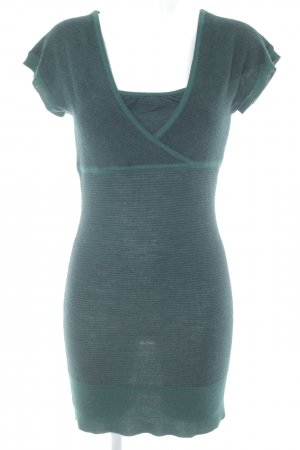 Mexx Strickkleid waldgrün-schwarz Streifenmuster schlichter Stil