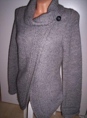 Mexx Manteau en tricot argenté laine alpaga