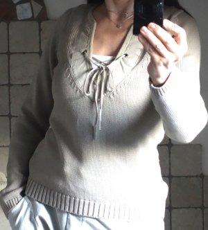 Mexx V-Neck Sweater beige-sand brown