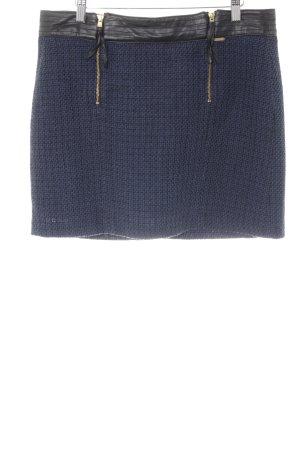 Mexx Jupe tricotée noir-bleu moucheté style décontracté
