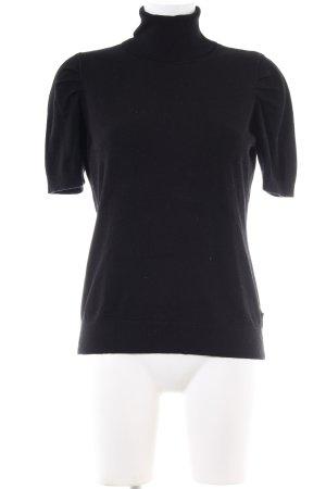 Mexx Strickshirt schwarz Business-Look