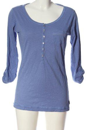 Mexx Strickshirt blau Casual-Look