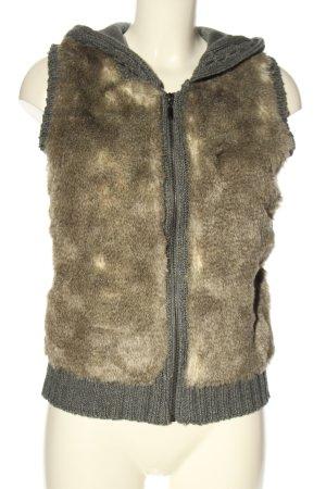 Mexx Gebreid vest bruin-lichtgrijs casual uitstraling