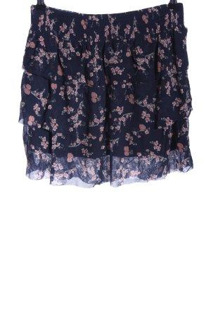 Mexx Warstwowa spódnica niebieski-jasny pomarańczowy Wzór w kwiaty