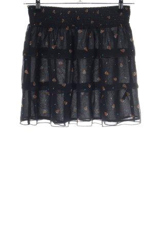 Mexx Falda gitana negro-marrón estampado repetido sobre toda la superficie