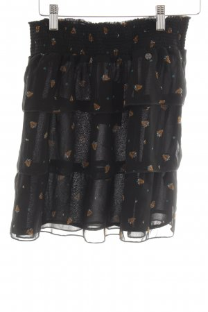 Mexx Broomstick Skirt black-camel flower pattern casual look