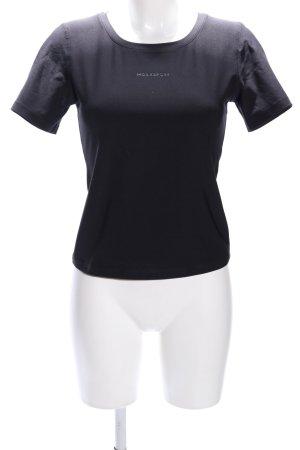 Mexx T-Shirt schwarz Schriftzug gedruckt Casual-Look