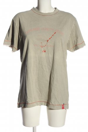 Mexx T-Shirt wollweiß-rot Motivdruck Casual-Look