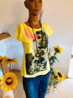 Mexx T-shirt gelbgrün neon Gr 36