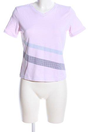 Mexx T-Shirt pink Streifenmuster Casual-Look