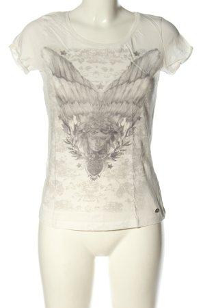 Mexx T-Shirt weiß-hellgrau Motivdruck Casual-Look