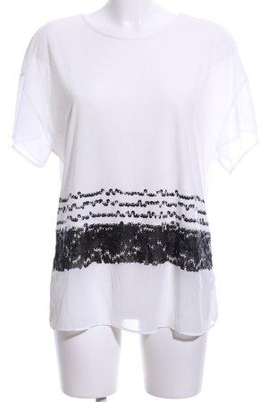 Mexx T-Shirt weiß-schwarz Motivdruck Casual-Look