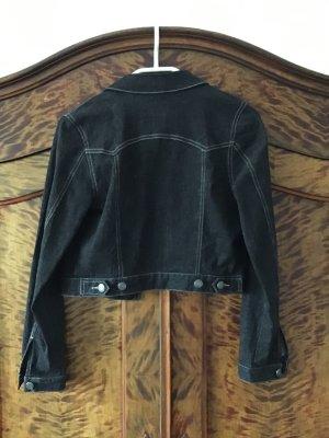 MEXX - Tolle, kurze Jeansjacke - Gr. 36 - schwarz/dunkelgrau - NUR 1 x getragen - wie NEU