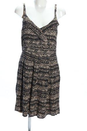 Mexx Trägerkleid schwarz-creme Allover-Druck Casual-Look