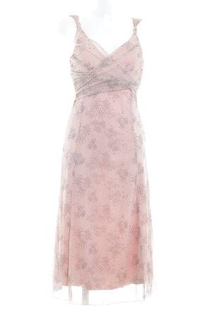 Mexx Trägerkleid rosa-schwarzbraun abstraktes Muster Elegant