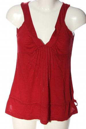Mexx Top met spaghettibandjes rood abstract patroon casual uitstraling