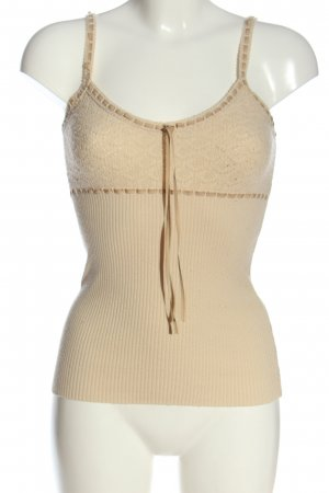 Mexx Trägertop creme Zopfmuster Casual-Look