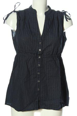 Mexx Trägertop blau-schwarz Streifenmuster Casual-Look