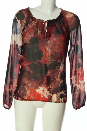 Mexx Transparenz-Bluse abstraktes Muster Casual-Look