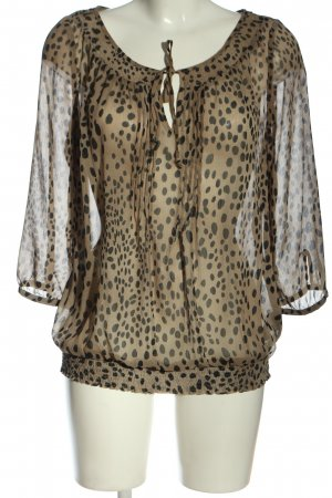 Mexx Transparenz-Bluse Allover-Druck Casual-Look
