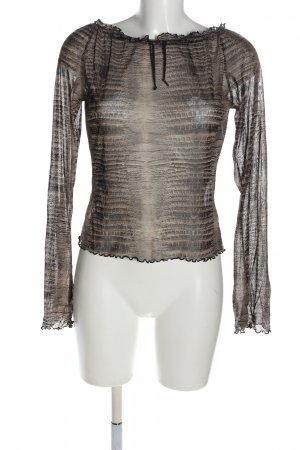 Mexx Transparenz-Bluse Animalmuster Casual-Look