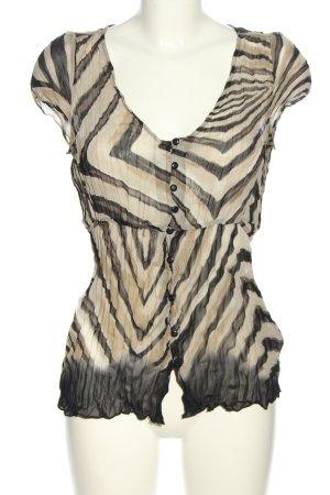 Mexx Transparenz-Bluse schwarz-creme Farbverlauf Casual-Look