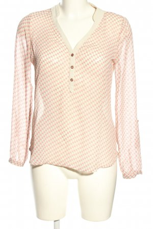 Mexx Transparenz-Bluse pink-creme Allover-Druck Casual-Look