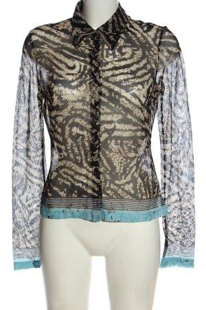 Mexx Transparenz-Bluse abstraktes Muster Elegant