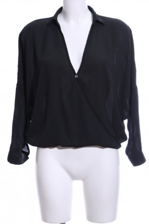 Mexx Transparenz-Bluse schwarz Elegant