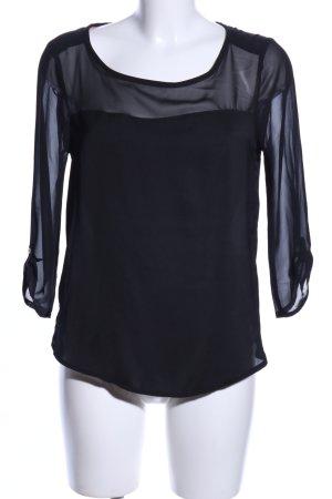 Mexx Transparenz-Bluse schwarz Casual-Look