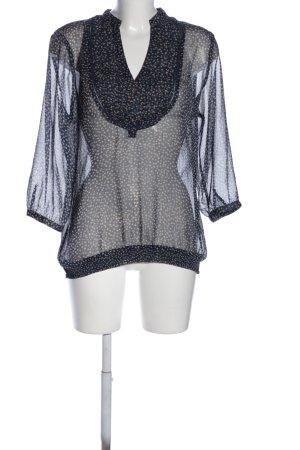 Mexx Transparenz-Bluse schwarz-creme Allover-Druck Casual-Look