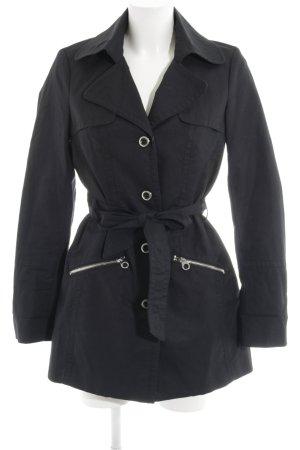 Mexx Trenchcoat schwarz-silberfarben klassischer Stil