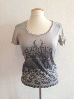 MEXX Tshirt - Baumwoll Tshirt, Grautöne, Pailletten, Größe S