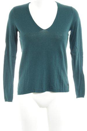 Mexx V-Ausschnitt-Pullover blau Casual-Look