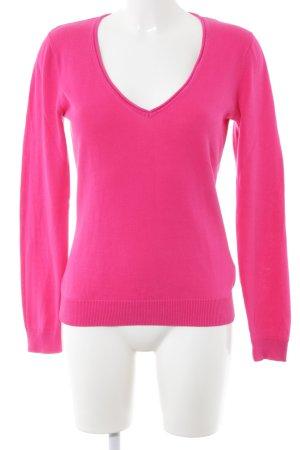 Mexx V-Ausschnitt-Pullover pink Casual-Look