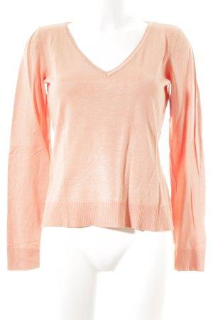 Mexx V-Ausschnitt-Pullover apricot schlichter Stil