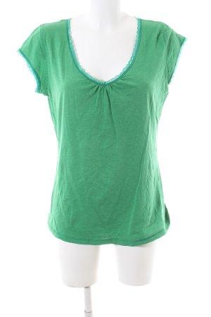 Mexx V-Ausschnitt-Shirt grün-türkis Casual-Look