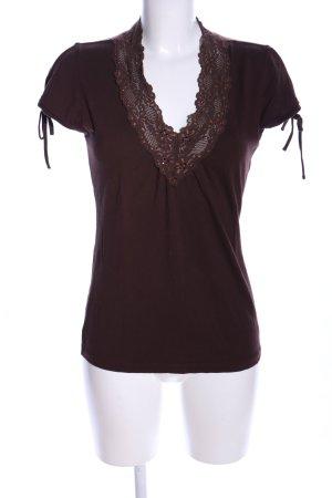 Mexx V-Ausschnitt-Shirt braun Casual-Look