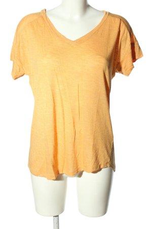 Mexx V-Ausschnitt-Shirt hellorange Casual-Look