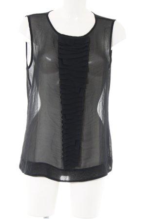 Mexx Top con balze nero elegante