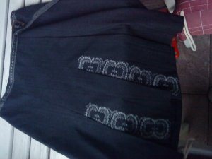 Mexx Jupe portefeuille gris anthracite-gris clair tissu mixte