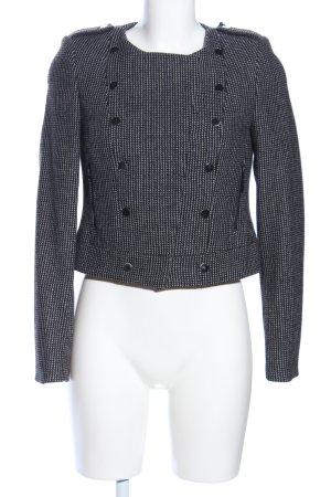 Mexx Woll-Blazer schwarz-weiß Allover-Druck Business-Look