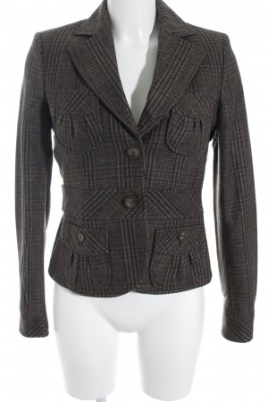 Mexx Woll-Blazer Vichykaromuster Casual-Look