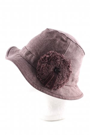 Mexx Woolen Hat brown weave pattern casual look