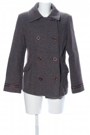 Mexx Wolljacke hellgrau Webmuster Business-Look