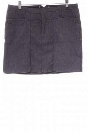 Mexx Wool Skirt grey violet flecked casual look
