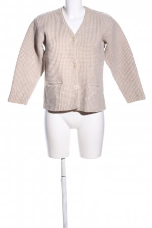 Mey & Edlich Coarse Knitted Jacket natural white cable stitch casual look