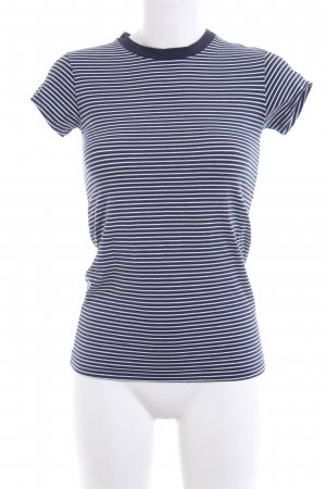 mey Ringelshirt blau-weiß Streifenmuster Casual-Look