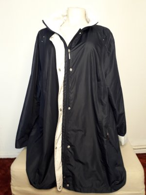 Outdoor Jacket white-dark blue polyester